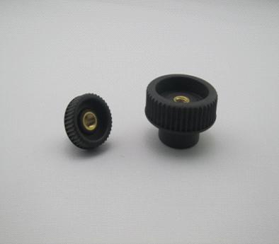 Knurled nuts with through thread